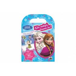 Obrázek Samolepková knížka + omalovánky Ledové království/Frozen - Kdo nelepí, není in! 16,5x24cm