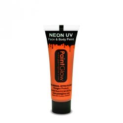 Obrázek Barvy na obličej UV neon 13 ml - oranžová (UV orange)