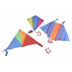 Obrázek Drak létající polyester 45x25cm/25x28cm/46x28cm barevný  36ks v boxu