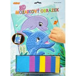 Obrázek 3D mozaikový obrázek - Delfíni