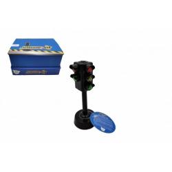 Obrázek Semafor funkční plast 12cm na baterie se světlem se zvukem 12ks v boxu