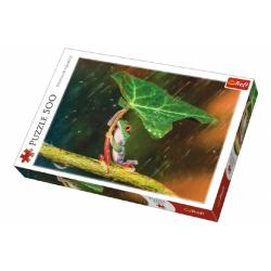 Obrázek Puzzle Žába s listem 500 dílků 48x34cm
