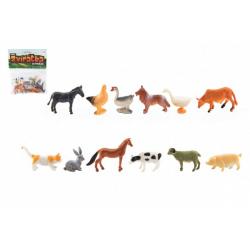 Obrázek Zvířátka mini domácí farma plast 4-6cm 12ks v sáčku
