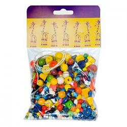 Obrázek Mix perlí 70g hnědo-přírodní