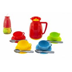 Obrázek Sada nádobí na čaj plast 13ks v síťce 11x20x11cm 12m+