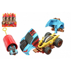 Obrázek Auto Boom City Racers plast mix druhů v plastové tubě 21x6,5x6cm 12ks v boxu