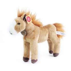 Obrázek plyšový kůň stojící světle hnědý 30 cm