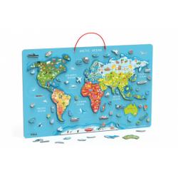 Obrázek Dřevěná mapa světa s tabulí