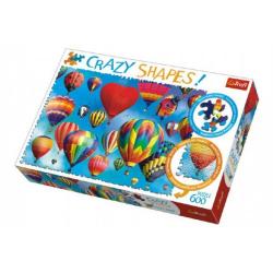 Obrázek Puzzle Barevné balóny 600 dílků Crazy Shapes 68x48cm v krabici 40x27x6cm
