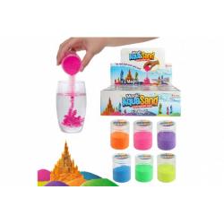 Obrázek Písek vodní kouzelný 6 barev v plastové dóze 12ks v boxu