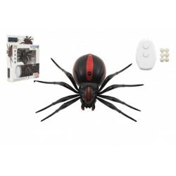 Obrázek Pavúk na ovládanie IC plast 13cm na batérie v krabičke 19x24x5cm