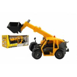 Obrázek Stavební stroj nakladač plast 32cm na volný běh v krabici 37x16x17cm