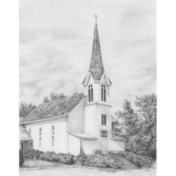 Obrázek Malování SKICOVACÍMI TUŽKAMI- Kostelík