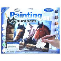 Obrázek Malování podle čísel- Koňské hlavy