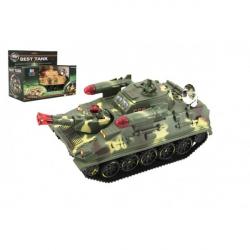 Obrázek Tank plast 25cm na baterie se světlem se zvukem 2 barvy v krabici 27,5x21x15cm