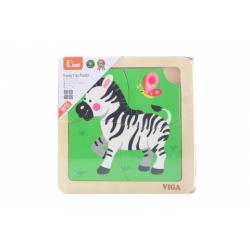 Obrázek Dřevěné puzzle - zebra