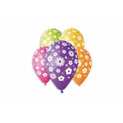 Obrázek Balónik / Balóniky nafukovacie kvety 12 '' priemer 30cm 5ks v sáčku