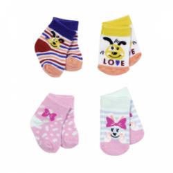 Obrázek BABY born Ponožky (2 páry) 2 druhy 43 cm - 2 druhy