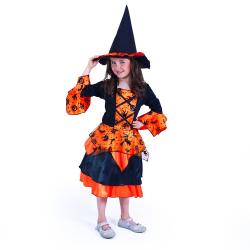 Obrázek Dětský kostým čarodějnice/Halloween (M)
