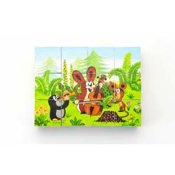 Obrázek Kostky kubus Krtek a přátelé dřevo 12ks  22x17x4cm