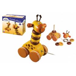 Obrázek Žirafa Mary tahací dřevo v krabičce 13x11x7,5cm 12m+