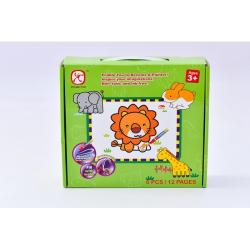 Obrázek Vybarvovací puzzle zvířata