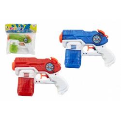 Obrázek Vodní pistole plast 19cm 3 barvy v sáčku