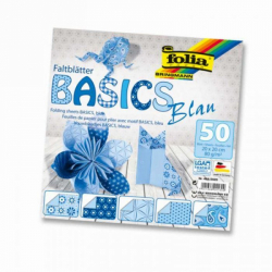 Obrázek Papiere na skladanie Origami, 50 listov, 10x10 cm, 80g - modré