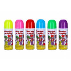 Obrázek Sprej barevný na paruky smývatelný 17cm 140 ml 6 barev karneval