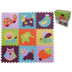 Obrázek Pěnové puzzle 9 ks 30x30x1cm, zvířata