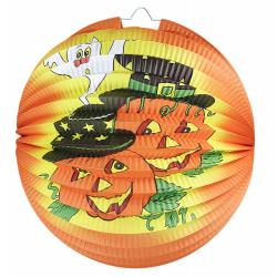 Obrázek lampion koule Halloween oranžový, 25 cm