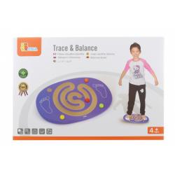 Obrázek Dřevěná balanční deska s labyrintem
