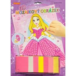 Obrázek 3D mozaikový obrázek - Princezna