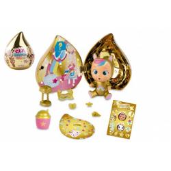 Obrázek CRY BABIES Magické slzy plast panenka s domečkem a doplňky ve zlaté slzičce 12x15x12cm 12ks v boxu