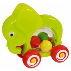Obrázek Slon s míčky tahací plast 20x18x9,5cm  od 12 měsíců