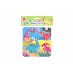 Obrázek Pěnové magnetické puzzle - dinosauři