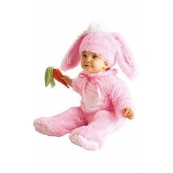 Obrázek Baby kostým - růžový králíček (6-12m)