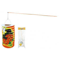Obrázek lampion Halloween s hůlkou, 60 cm