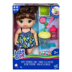 Obrázek Baby Anabell Tmavovlasá panenka s mixérem