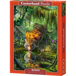 Obrázek Puzzle 1000 dílků - Pijící tygr v džungli