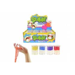 Obrázek Sliz - hmota s pěnovými kuličkami 5x7cm asst 4 barvy 12ks v boxu