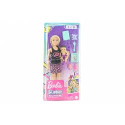 Obrázek Barbie Chůva blondýnka + miminko/doplňky GRP13