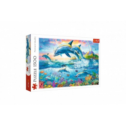 Obrázek Puzzle Rodina delfínů 1500 dílků 85x58 cm v krabici 40x27x6cm