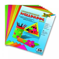 Obrázek Vlnitý papír neonové barvy, sada 10 listů, 25x35xcm