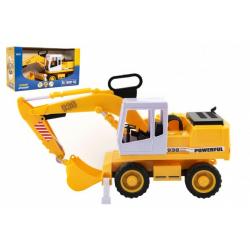 Obrázek Stavební stroj bagr nakladač plast 38cm na setrvačník v krabici 41x23x16cm