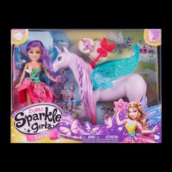 Obrázek Víla Sparkle Girlz s jednorožcem svítícím