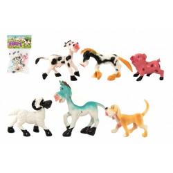 Obrázek Zvířátka veselá domácí farma plast 8-10cm 6ks v sáčku