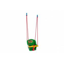 Obrázek Houpačka Baby s pískátkem plast zelená nosnost 20kg 35x34x35cm