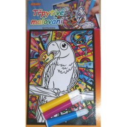 Obrázek Třpytivé malování - Papoušek