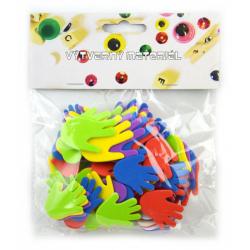 Obrázek Pěnové ručíčky, samolepicí- mix barev a velikostí, 60 ks